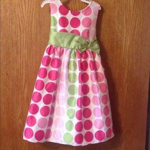 Little girls 4T rare too polka dot dress
